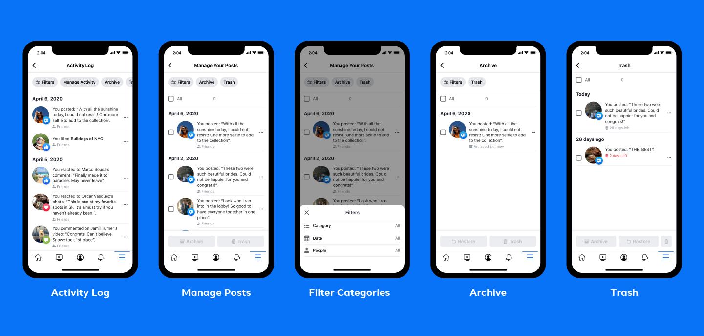 Facebook新功能:允许用户批量删除旧帖子